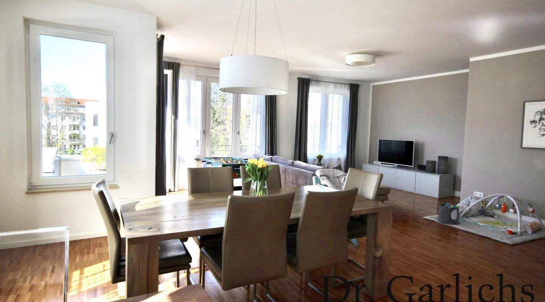 ID 1166 - Wohnung - Zehlendorf - Berlin - Kueche Wohnzimmer